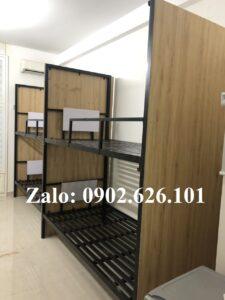 Giường tầng sắt giá rẻ Tứ Hưng