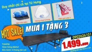 Mua giường sắt xếp di động TẶNG 3 món chỉ DUY NHẤT có tại Tứ Hưng
